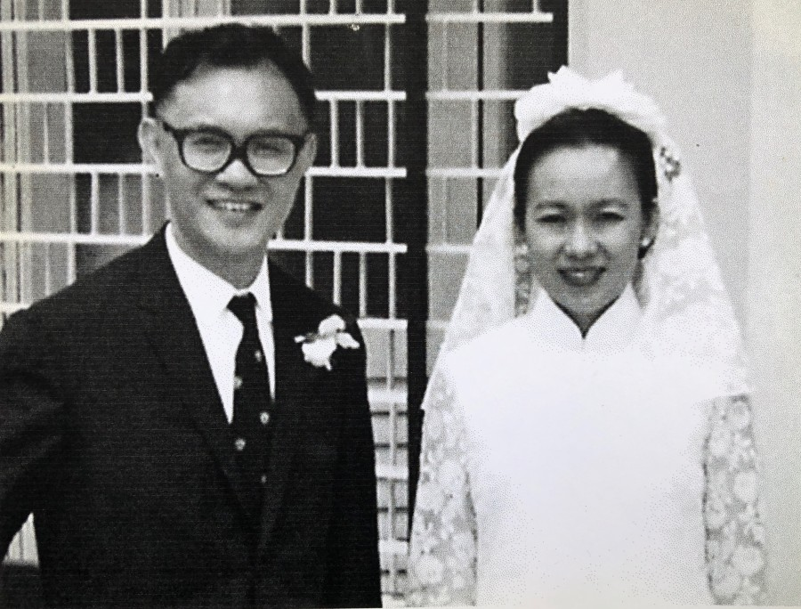 Francis and Pek-Lin on their wedding day