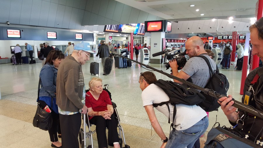 Filming for the Qantas Story (Melbourne Airport)