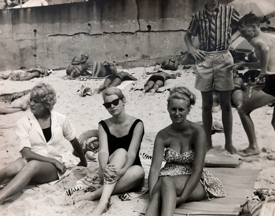 Susan, Judith and Gayle at Bondi Beach (1960s)