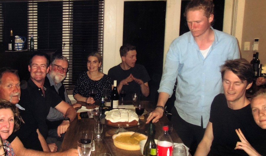 Clockwise: Eliza's parents, Greg, Christopher, Emma, Jonathan, Dominic, Craig and Lily