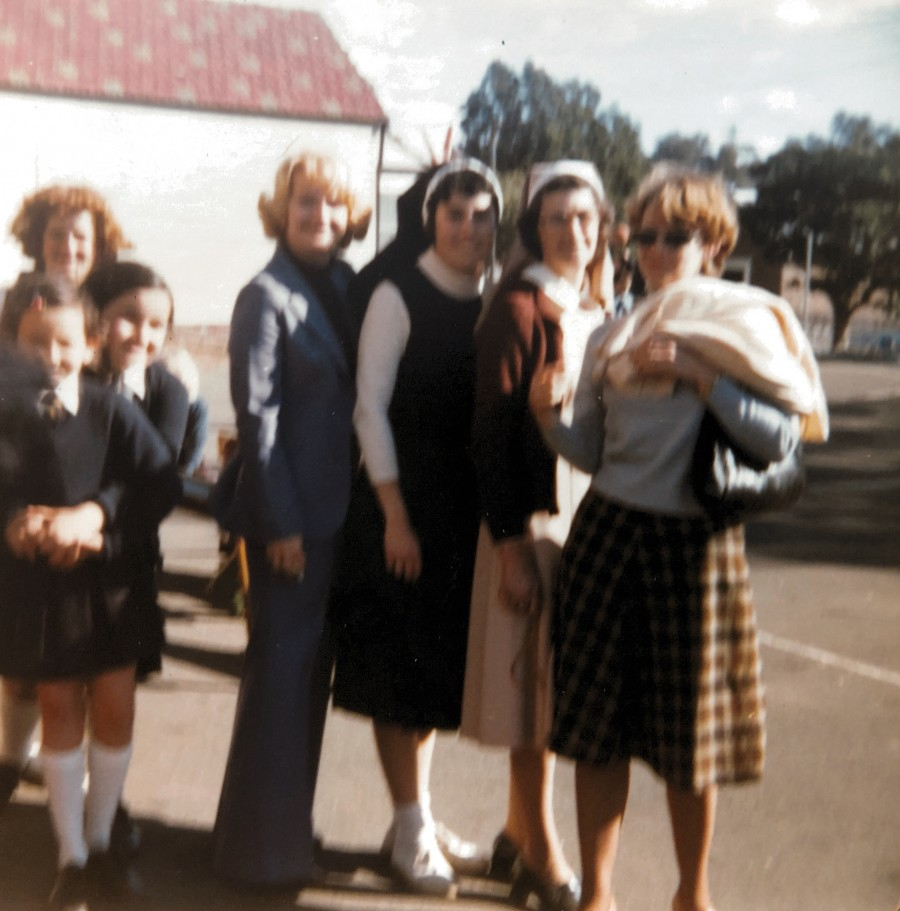 School Days - Sister Roberta, Judith and others at St Joan of Arc