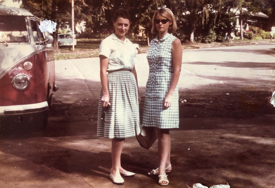 Jo Platt and I in Goroka, PNG - 1970 (photo sent to me by Father Johannes Dapur)