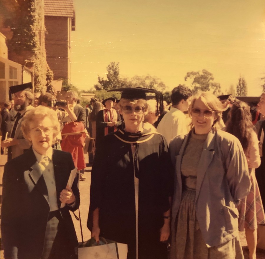 Graduation Day - Molly Molloy (Mum), Me and Margaret Molloy (Borger)