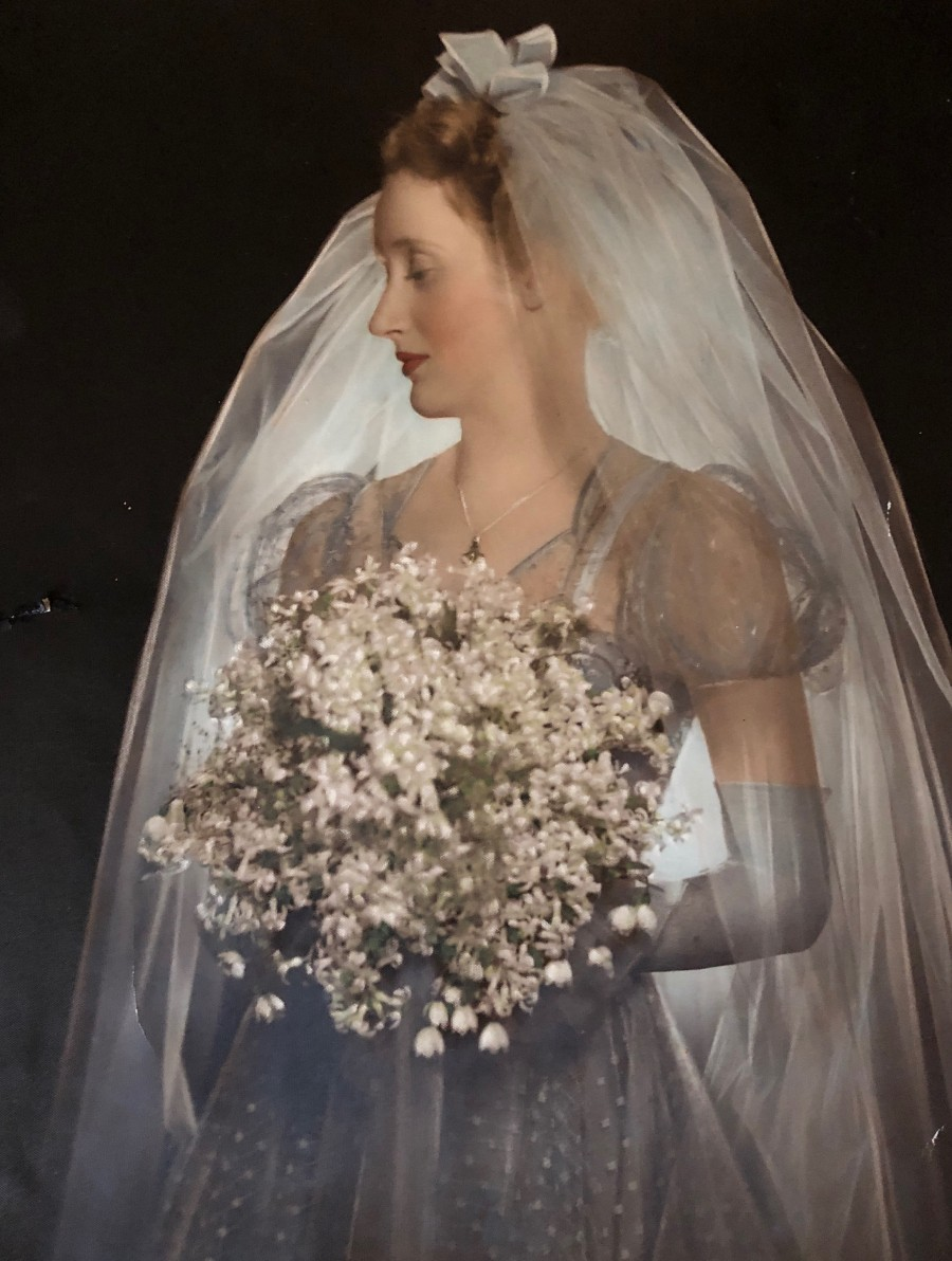 Mum on her wedding day