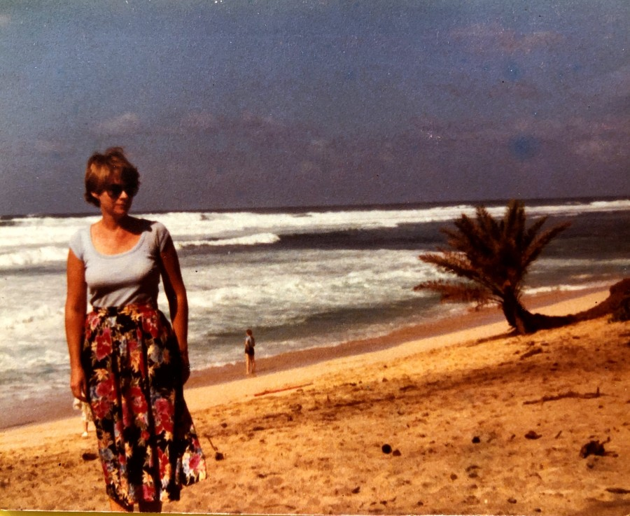 Judith at Banzai Pipeline, Hawaii