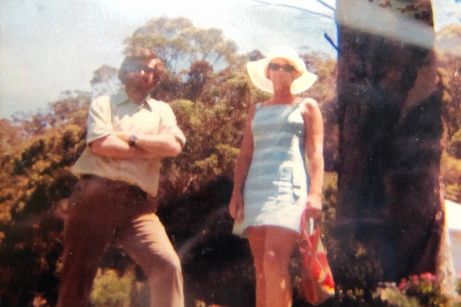 Michael and I on Dangar Island