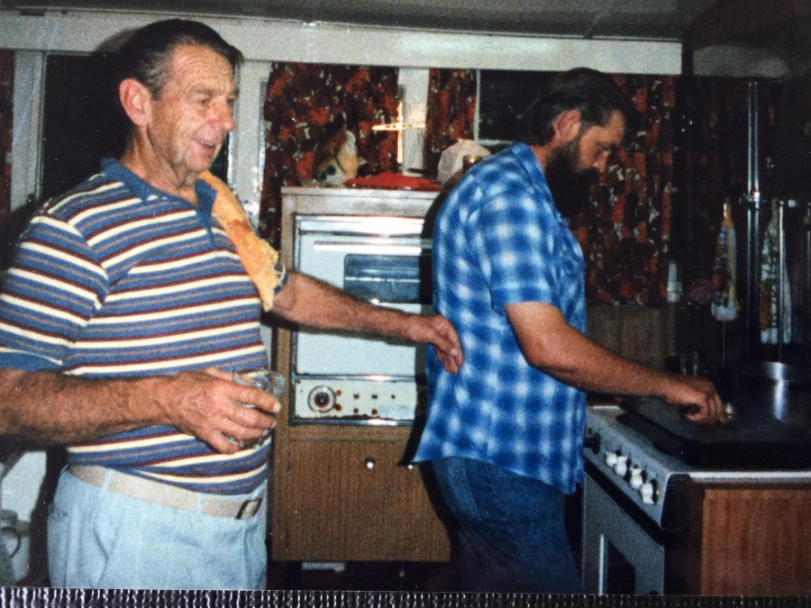 Rex Mahony and Gerry Hansen in the Kitchen
