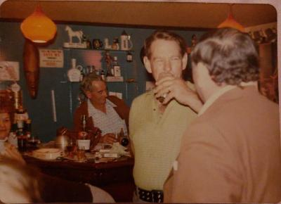 Nancy Cave, Wally Brewster, Rex Mahony, Dick Harris (In the Tavern)